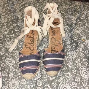 Sam Edelman Women's Patsy Ankle Tie Espadrille